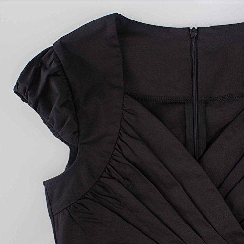 XWXW Vestito Da Manicotto Del Collo Del Pannello Esterno Della Matita Dell'Anca Del Pantalone Sottile Delle Donne