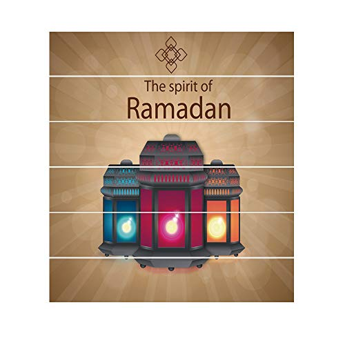 Muslim Ramadan Festival Blessing Creative Staircase Sticker Creative Staircase Decoration Durable Waterproof Does Not Fade (A) ()
