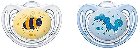 Nuk Freestyle - Set de 2 chupetes para niño Talla 1 Talla:0 a 6 meses