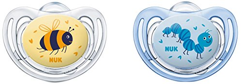 Nuk Freestyle - Set de 2 chupetes para niño Talla 1 Talla:0 a 6 meses, modelos aleatorios