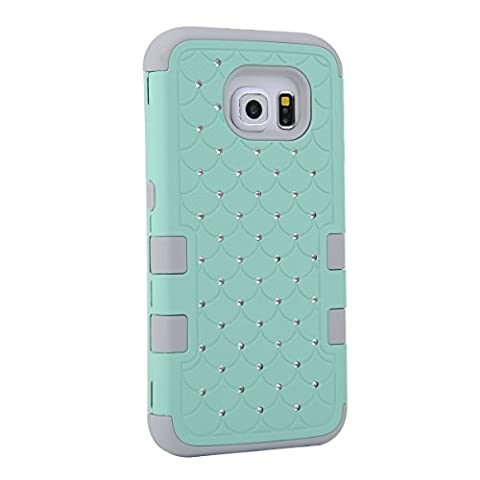 Samsung Galaxy S6 Case, GPROVA [anti scratch] Three Layer Hard & Soft Hybrid Bling Glitter Case Cover For Galary S6 (Galaxy Speck 5s Case)