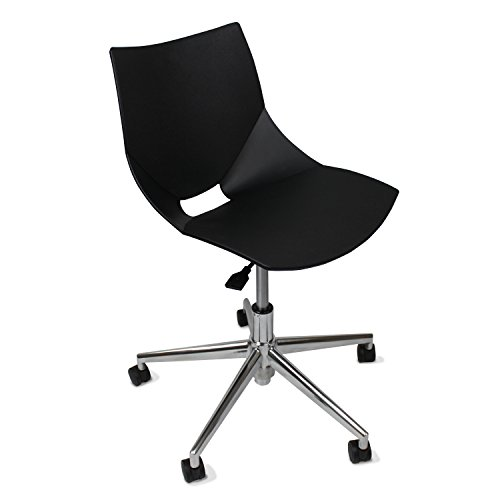 GloDea Shell Office Chair, Black