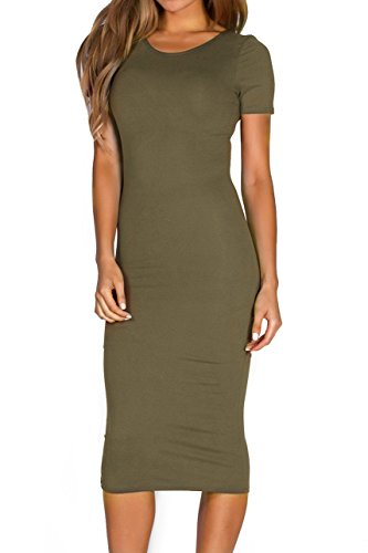 ICONOFLASH Womens Bodycon Midi Dress