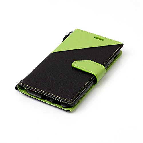 2 A5 A520F Galaxy Flip A5 Aeeque Pattern Holster Touch 2017 Wallet inch A5 Case PU 2017 Galaxy Premium Unique Folio Protection Magnetic Stand Clasp 5 Green and Black Don't Leather for A Phone Samsung Comics My and 0prq0xSw