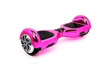 BC Babycoches - Patinete electrico Hoverboard monopatin autoequilibrio TecnoBoards T6, 6,5 Pulgadas Color Cromado Rosa