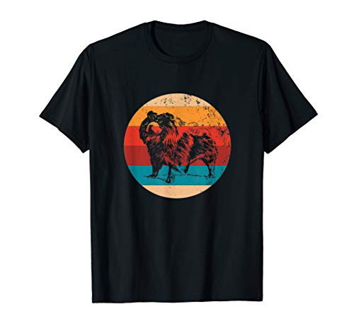 Vintage Chow Chow Lover Retro Big Dog Silhouette Gift T-Shirt -
