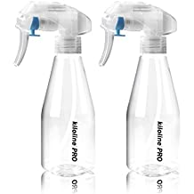 Kiloline Empty Spray Bottle Clear PET Plastic 200ml Bottles Safe Non-Toxic Odorless Super fine Mist Trigger Sprayer Leak-proof Great for Cleaning Products Garden using Beauty Treatments 2pcs