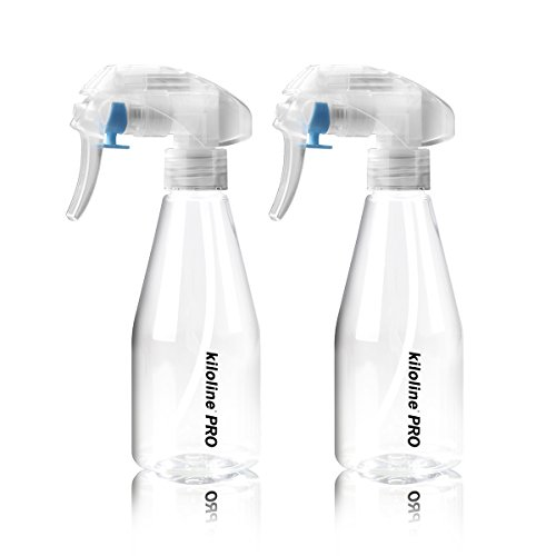 - Kiloline Empty Spray Bottle Clear PET Plastic 200ml Bottles Safe Non-Toxic Odorless Super fine Mist Trigger Sprayer Leak-proof Great for Cleaning Products Garden using Beauty Treatments 2pcs