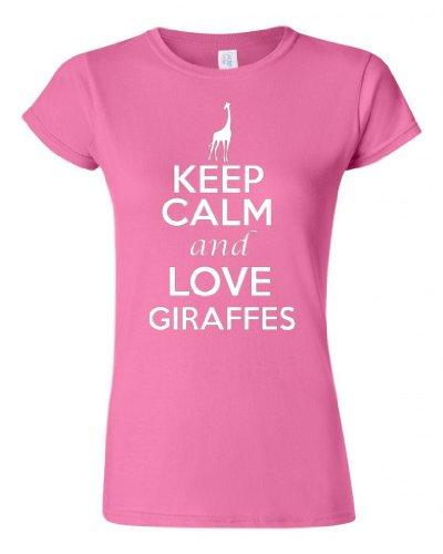 Junior Keep Calm And Love Giraffes T-Shirt Tee