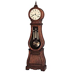 Arendal Finial 89.75H Standing Clock Tuscan Cherry Dimensions: 25W X 13.75D X 89.75H Weight: 129 Lbs