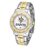 Game Time NFL New Orleans Saints Mens Two-Tone CompetitorWrist Watch, White, One Size