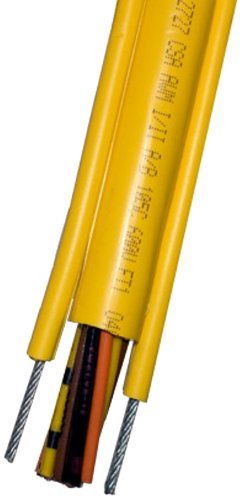 KH Industries CPCS-16/12-25FT Pendant Cable with External Strain Relief, PVC Jacket, 12 Conductor, 16 AWG, 25' Length, Yellow