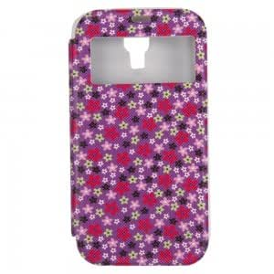 Simple Sunproof Automatic Wake/Sleep Smart View Flip PU Leather and TPU Protective Case for Samsung S4/i9500 XY-65