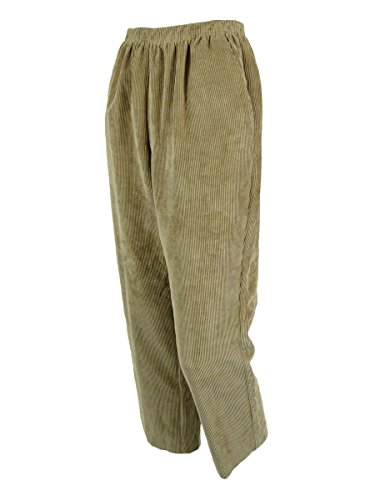 Elastic Waist Corduroy Pants - Alfred Dunner Classics Elastic Waist Corduroy Pants Tan 10P S