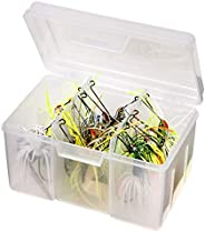 Flambeau Tackle Spinnerbait Utility Box (Clear, 6.5x4.625x4.125-Inch)