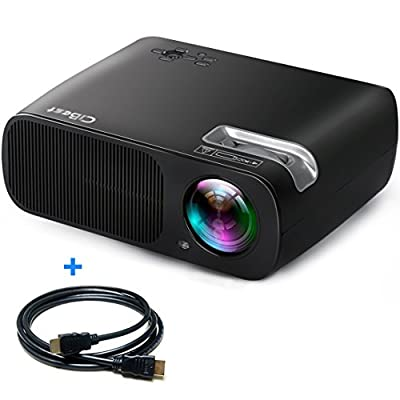 """CiBest Video Projector 2600 Lumens Portable 1080p Max 200"""" Big Screen LCD LED 3D Projector Video System Home Entertainment Theater Cinema Games Support HDMI VGA AV USB Games"""