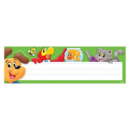 (TREND enterprises, Inc. Playtime Pals Desk Toppers Name Plates, 36 ct)