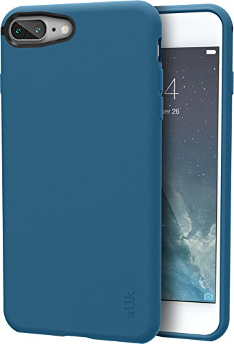 Silk iPhone 8 Plus / 7 Plus Slim Case - Kung Fu Grip [Lightweight + Protective] Thin Cover for Apple iPhone 7 Plus / 8 Plus - Blues on The Green