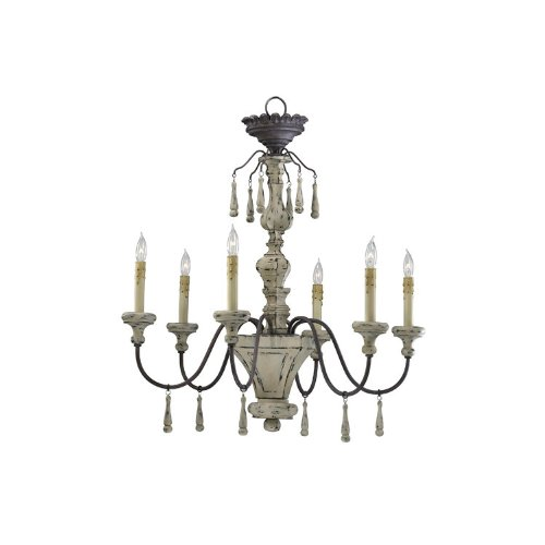 Cyan Design 6513-6-43 Provence 6-Light Chandelier in Carriage House (House Lighting Provence Chandelier Light)