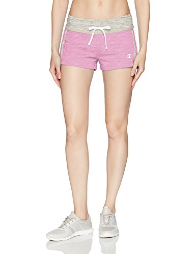 Champion Women's French Terry Short (Limited Edition), Pink, XL (Hooded Shorts Terry)