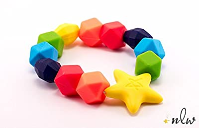 New Little Wonders Baby Teether, The Original Rainbow Charm Teething Ring, BPA-Free, Latex Free by New Little Wonders that we recomend personally.