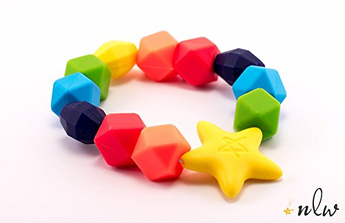 New Little Wonders Baby Teether, The Original Rainbow Charm Teething Ring, BPA-Free, Latex Free by New Little...