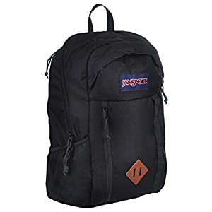 "JanSport Mens Outside Mainstream Foxhole Backpack - Black / 18""H x 11.5""W x 8""D"