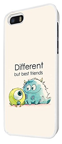 177 - Cool Fun Monsters Different But Best Friends Design iphone 5 5S Hülle Fashion Trend Case Back Cover Metall und Kunststoff - Weiß