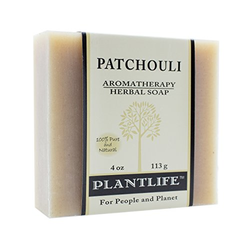 PLANTLIFE Patchouli Aromatherapy Soap Bar, 4 Ounce