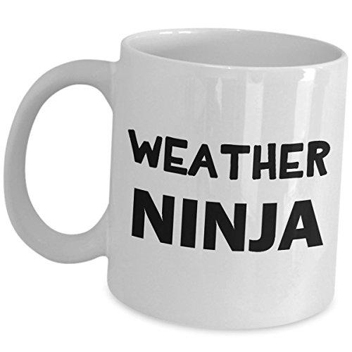 Meteorologist Coffee Mug - Funny Weather Ninja Meteorology Tea Cup - Cute Gag Inspirational Recognition Award Gifts Meteorological Weather Scientist Atmospheric Science Graduate Student Gift