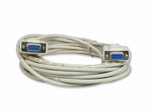 Your Cable Store 25 Foot DB9 9 Pin Serial Port Null Modem Cable Female / Female RS232