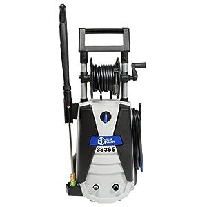 Annovi Reverberi AR383SS 1900 PSI Electric Pressure Washer, Blue, 30′ Hose