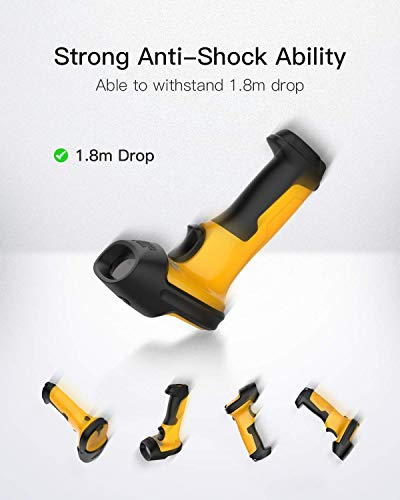 Barcode Scanner, Inateck Wireless Scanner, 2.4 GHz Adapter, 2600mAh Battery, 60M Range, Automatic Scanning, P6