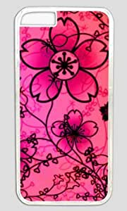 Beautiful Free Floral Textures Customized Hard Shell Transparent iphone 6 plus Case On Custom Service