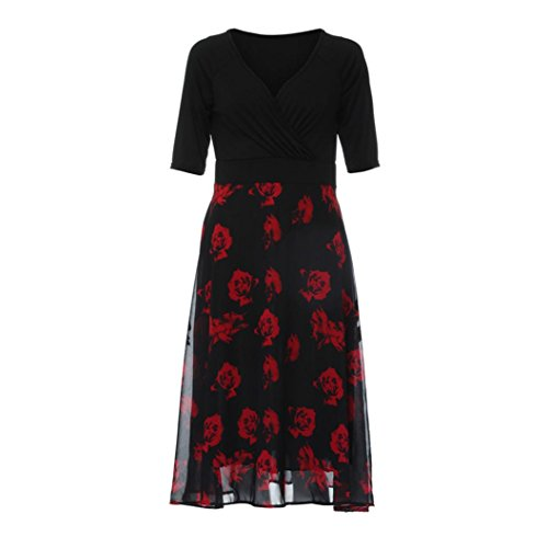 ❀ Damen kleider elegant lang ❀ Damen kleider sommer ❀ Frauen Plus ...
