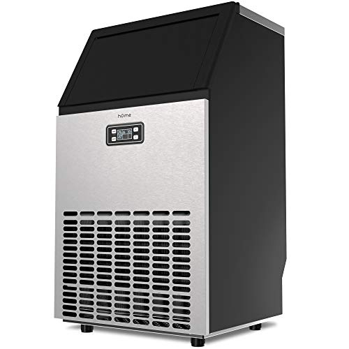 hOmeLabs Freestanding Commercial Ice Maker Machine - 99 lbs Ice in 24 hrs with 29 lb Storage Capacity - Ideal for Restaurants, Bars, Homes and Offices - Includes Scoop and Connection Hoses ()