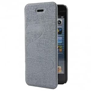Oracle Butterly Grain Pattern Protector Stand Case For iPhone 5 5S --- Color:Black