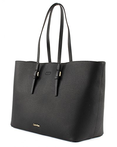 Calvin Klein CK Large Tote Solid Black De Moda Falsa Separación Barato Mejor Tienda De Venta Para Conseguir De Descuento Nuevos Llegada FgANIzEF