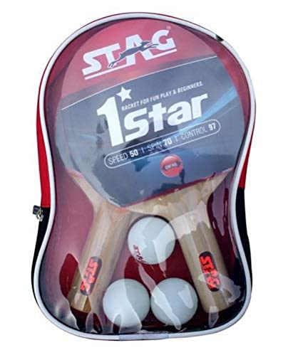 c7ef41f62 Buy Stag 1 Star Table Tennis Play Set (2 Bats and 3 Balls) Online at Low  Prices in India - Amazon.in