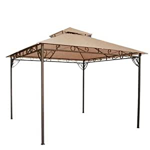 Amazon.com: Tan 10' x 10' Feet Garden Canopy Gazebo