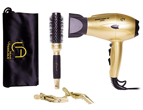 Professional Le Angelique Smart Ionic UV 2200 Black Hair Dryer 1875 W (Gold) ()