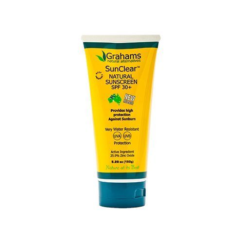 Grahams Natural Sunscreen - Grahams Natural Sunscreen - Sunclear - SPF 30 plus - 5.29 oz - Gluten Free -
