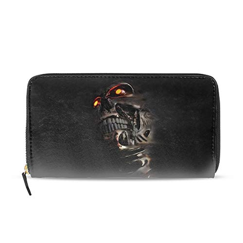 (Women Wallet Multi-card Three Fold Long Zipper Clutch Purse,Terminator)