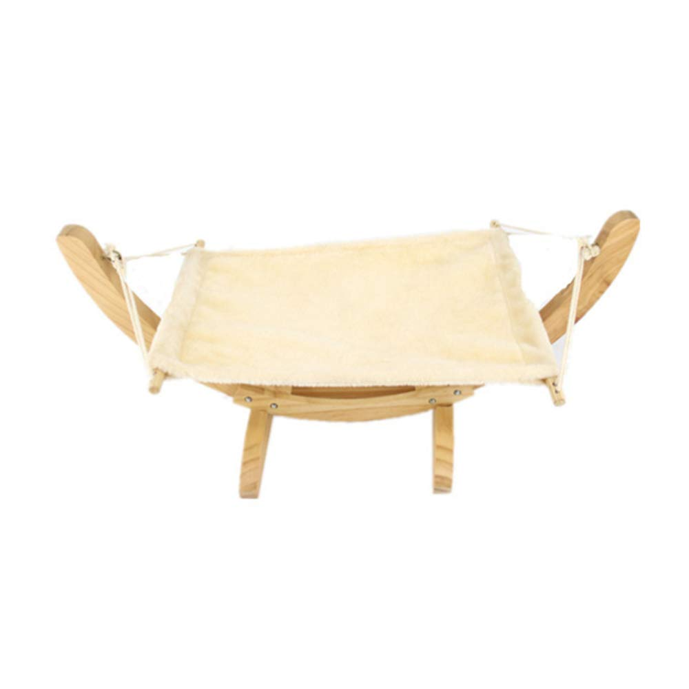 Beige Cat Hammock with Stand, Attractive & Sturdy Perch, for Kitty, Easy to Assemble, Multiple Uses for Easy Cleaning, Maximum Load 10KG,Beige