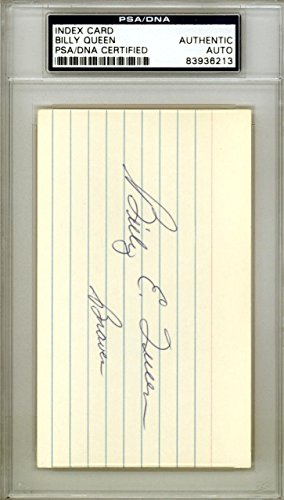 Billy Queen Autographed Signed 3x5 Index Card Milwaukee Braves #83936213 PSA/DNA Certified MLB Cut Signatures