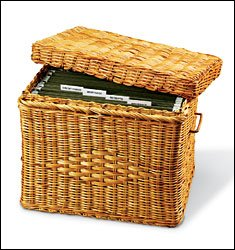 decorative hanging file boxes wicker file box - Decorative File Boxes