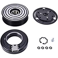 Catinbow AC Compressor Clutch Assembly Repair Kit with Pulley Bearing, Electromagnetic Coil & Plate for Ford F150 250 350 450 550 Super Duty FS10 OEM