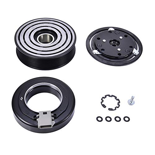 Catinbow AC Compressor Clutch Assembly 4L3Z19703AB Repair Kit with Pulley Bearing, Electromagnetic Coil & Plate for Ford F150 250 350 450 550 Super Duty FS10 OEM ()