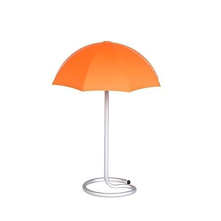 AZUAN Moderna Lámpara De Mesa LED Naranja Y Plata Noche Luces ...