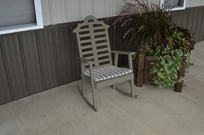Pine Country Outdoor Marlboro Porch Rocker Amish Made USA- Olive Gray Paint